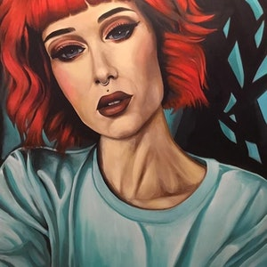 (CreativeWork) Red Hair, Don't Care by Craig Brown. arcylic-painting. Shop online at Bluethumb.