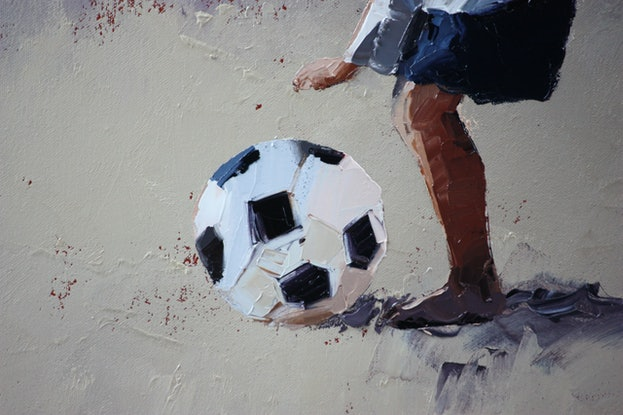 (CreativeWork) 'Ready.....Set.....Kick I'  Limited Edition Giclee Art Print   Ed. 2 of 100 by Claire McCall. Print. Shop online at Bluethumb.