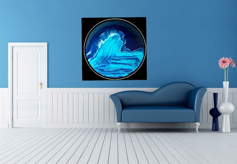 (CreativeWork) The Wave by Simonne Moodie. resin. Shop online at Bluethumb.