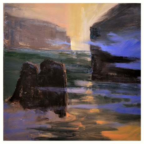 (CreativeWork) The Distance Between Islands by Warren Lee. Oil Paint. Shop online at Bluethumb.