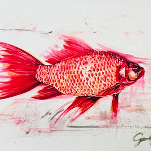 (CreativeWork) My Goldfish is cooler than yours by Silvia Rubboli Golf. other-media. Shop online at Bluethumb.