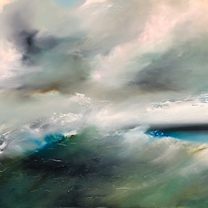 (CreativeWork) Winter Waters by Joanne Duffy. oil-painting. Shop online at Bluethumb.