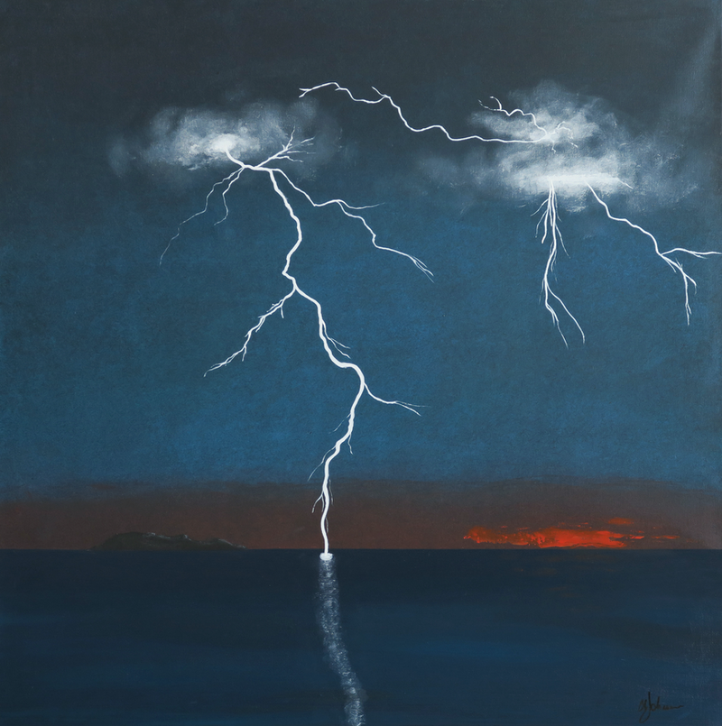 (CreativeWork) Goat Island by Barry Johnson. arcylic-painting. Shop online at Bluethumb.