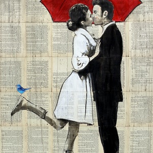 (CreativeWork) MAGICAL RAIN by loui jover. drawing. Shop online at Bluethumb.