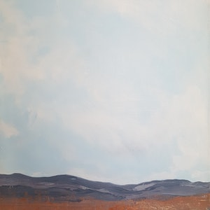 (CreativeWork) Big Sky by Andrea Edwards. arcylic-painting. Shop online at Bluethumb.
