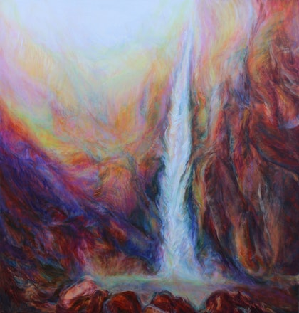 (CreativeWork) Wallaman Falls by In Sun Park. oil-painting. Shop online at Bluethumb.