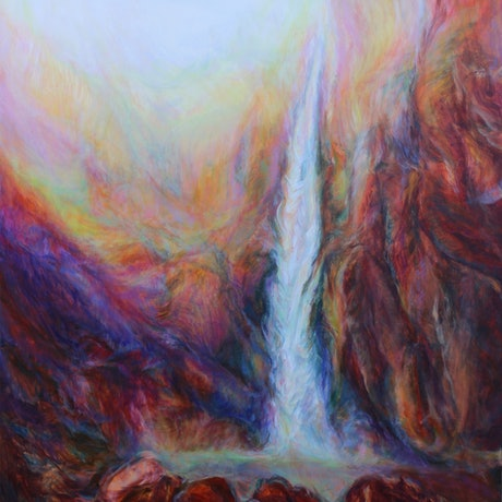 (CreativeWork) Wallaman Falls by In Sun Park. Oil Paint. Shop online at Bluethumb.
