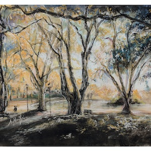 (CreativeWork) Hyde Park Perth in Autumn I (2018)  - Giclee Print Ed. 1 of 25 by Huixin Su. print. Shop online at Bluethumb.