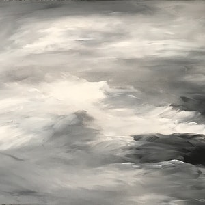 (CreativeWork) Grey Weather by Karen Pillay. arcylic-painting. Shop online at Bluethumb.