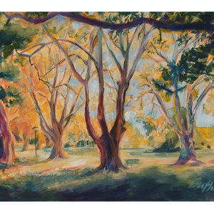 (CreativeWork) Hyde Park Perth in Autumn III (2018)  - Giclee Print Ed. 1 of 25 by Huixin Su. print. Shop online at Bluethumb.