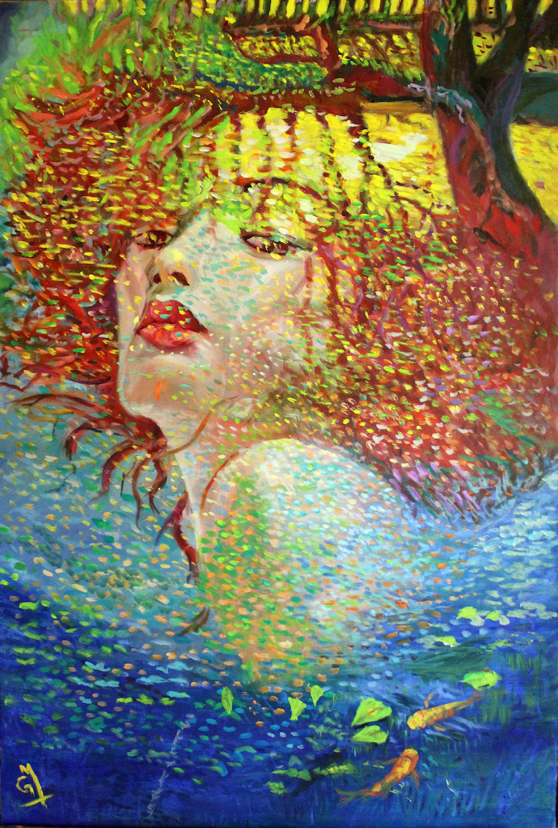 (CreativeWork) Reflection by Gerard Mignot. oil-painting. Shop online at Bluethumb.
