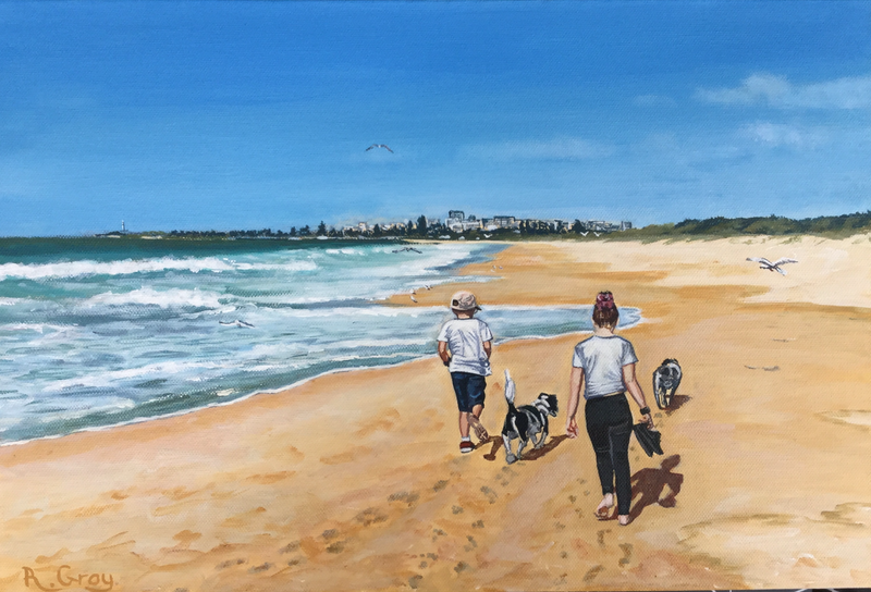(CreativeWork) Every Day is a New Adventure  COMMISSION by Robyn Gray. arcylic-painting. Shop online at Bluethumb.