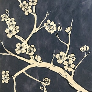 (CreativeWork) Japanese Calico and Steel by Donna Christie. arcylic-painting. Shop online at Bluethumb.