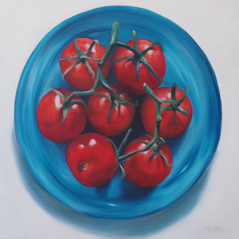 (CreativeWork) First Crop by Mia Laing. oil-painting. Shop online at Bluethumb.