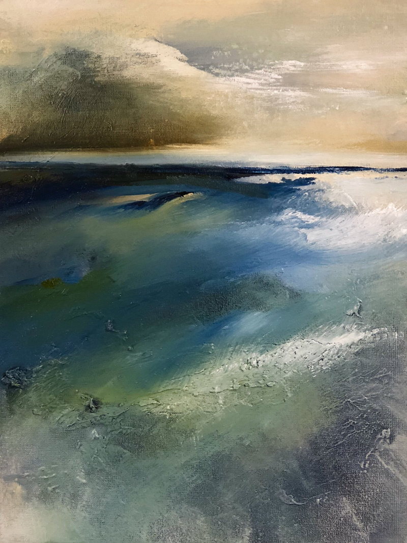 (CreativeWork) Calm by Joanne Duffy. oil-painting. Shop online at Bluethumb.