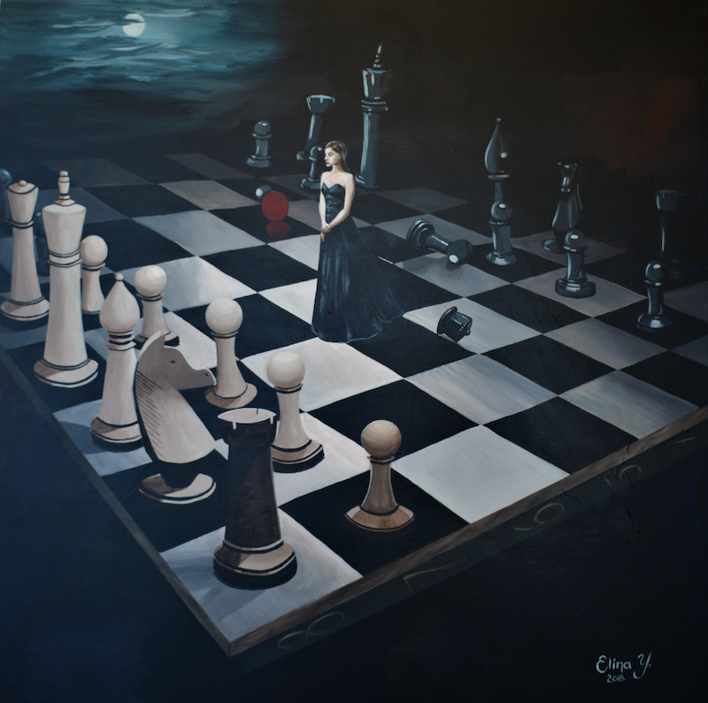 (CreativeWork) Game by Elina Yusim. arcylic-painting. Shop online at Bluethumb.