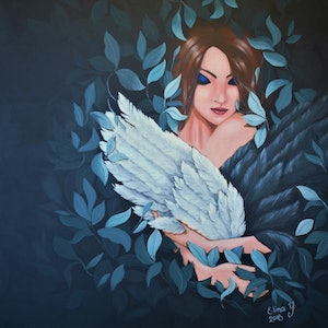 (CreativeWork) Serenity by Elina Yusim. arcylic-painting. Shop online at Bluethumb.