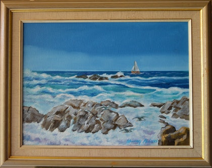 (CreativeWork) Dangerous Seas by Murray McLeod. oil-painting. Shop online at Bluethumb.