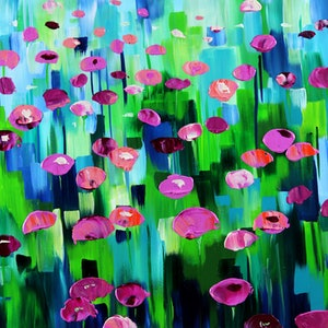 (CreativeWork) Splash of Colour by Eve Izzett. arcylic-painting. Shop online at Bluethumb.