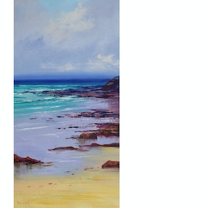 (CreativeWork) Low  tide colours by Graham Gercken. oil-painting. Shop online at Bluethumb.