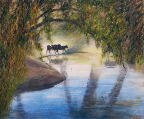 (CreativeWork) Homeward Bound by Anne Huth. Oil Paint. Shop online at Bluethumb.