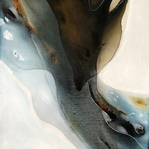 (CreativeWork) Estuary 1 by Dinah Wakefield. arcylic-painting. Shop online at Bluethumb.