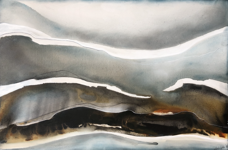 (CreativeWork) Storm Front  by Dinah Wakefield. arcylic-painting. Shop online at Bluethumb.