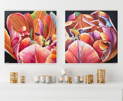 (CreativeWork) FLORAL PALETTE ONE by Treena Seymour. Acrylic Paint. Shop online at Bluethumb.