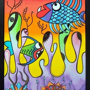 (CreativeWork) Underwater party by Fernanda Infanti. other-media. Shop online at Bluethumb.