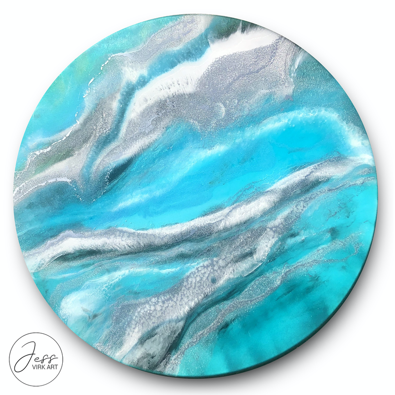 (CreativeWork) Luminescence II by Jess Virk. resin. Shop online at Bluethumb.