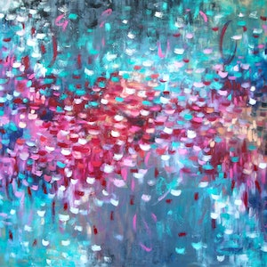 (CreativeWork) Cherry Blossom - LARGE SIZE - includes certificate by Belinda Nadwie. oil-painting. Shop online at Bluethumb.