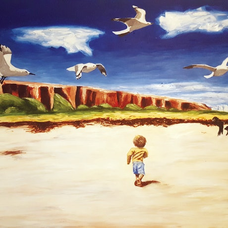 (CreativeWork) Middleton Boy by Kathryn Gruber. Acrylic Paint. Shop online at Bluethumb.