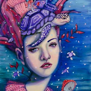 (CreativeWork) Aphrodite by Lucy Chen. oil-painting. Shop online at Bluethumb.