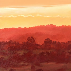 (CreativeWork) Last Light at Ridge Road by Drew Harrison. arcylic-painting. Shop online at Bluethumb.