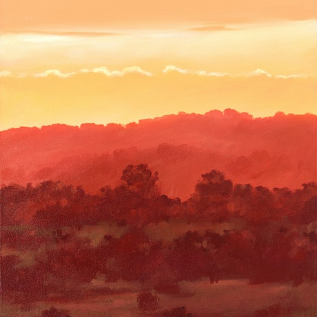 (CreativeWork) Last Light at Ridge Road by Drew Harrison. Acrylic Paint. Shop online at Bluethumb.
