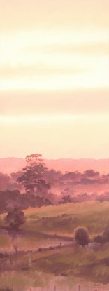 (CreativeWork) Twilight at Woodside by Drew Harrison. #<Filter:0x000056473d33e7c8>. Shop online at Bluethumb.