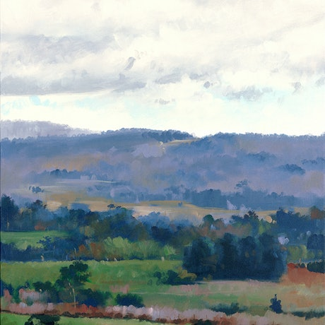(CreativeWork) Winter Chill, Mt Torrens by Drew Harrison. Acrylic Paint. Shop online at Bluethumb.