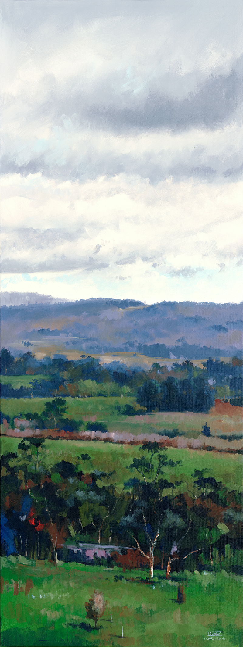 (CreativeWork) Winter Chill, Mt Torrens by Drew Harrison. acrylic-painting. Shop online at Bluethumb.