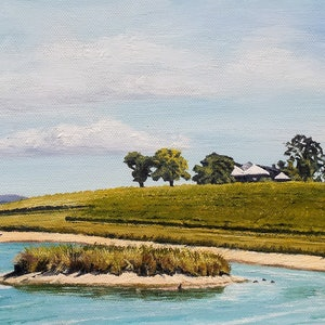 (CreativeWork) Summer at Yarrawood by M.A. Hobbs. oil-painting. Shop online at Bluethumb.