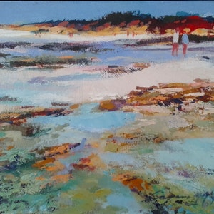 (CreativeWork) Cable Beach Broome by Carmen McFaull. arcylic-painting. Shop online at Bluethumb.