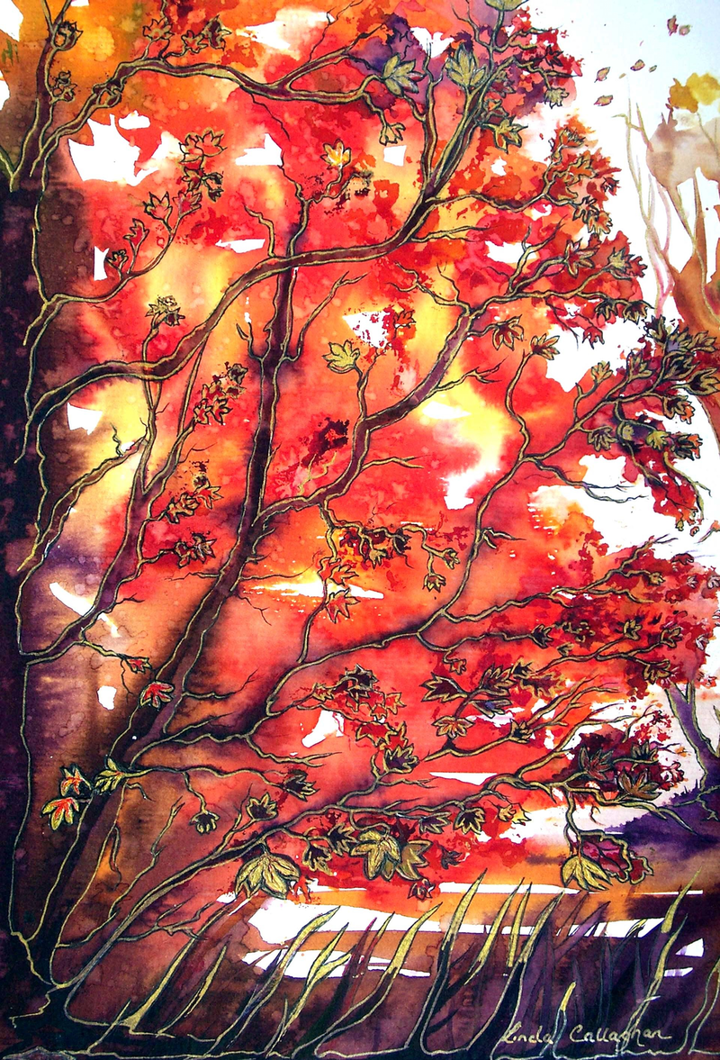 (CreativeWork) Autumn Song by Linda Callaghan. mixed-media. Shop online at Bluethumb.