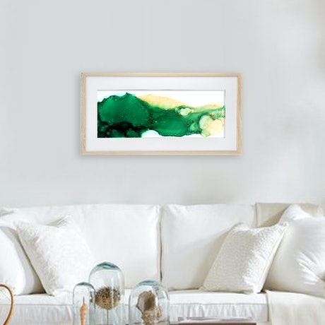 (CreativeWork) Great Barrier Reed Isle 2 by Racheal Davis. Mixed Media. Shop online at Bluethumb.