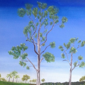 (CreativeWork) Peace in the Valley by Janine H. arcylic-painting. Shop online at Bluethumb.