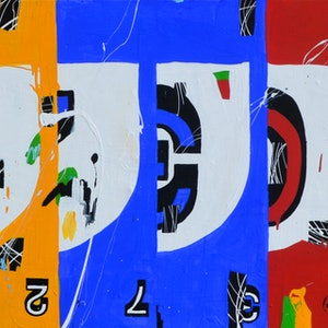 (CreativeWork) Time Enough For Counting by Ben Tankard. arcylic-painting. Shop online at Bluethumb.
