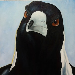 (CreativeWork) Percy by Sgrid Patterson. arcylic-painting. Shop online at Bluethumb.