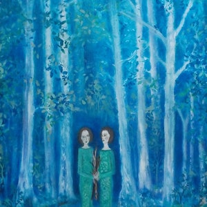 "(CreativeWork) ""Dream of a forest"" by Catherine Walker. arcylic-painting. Shop online at Bluethumb."