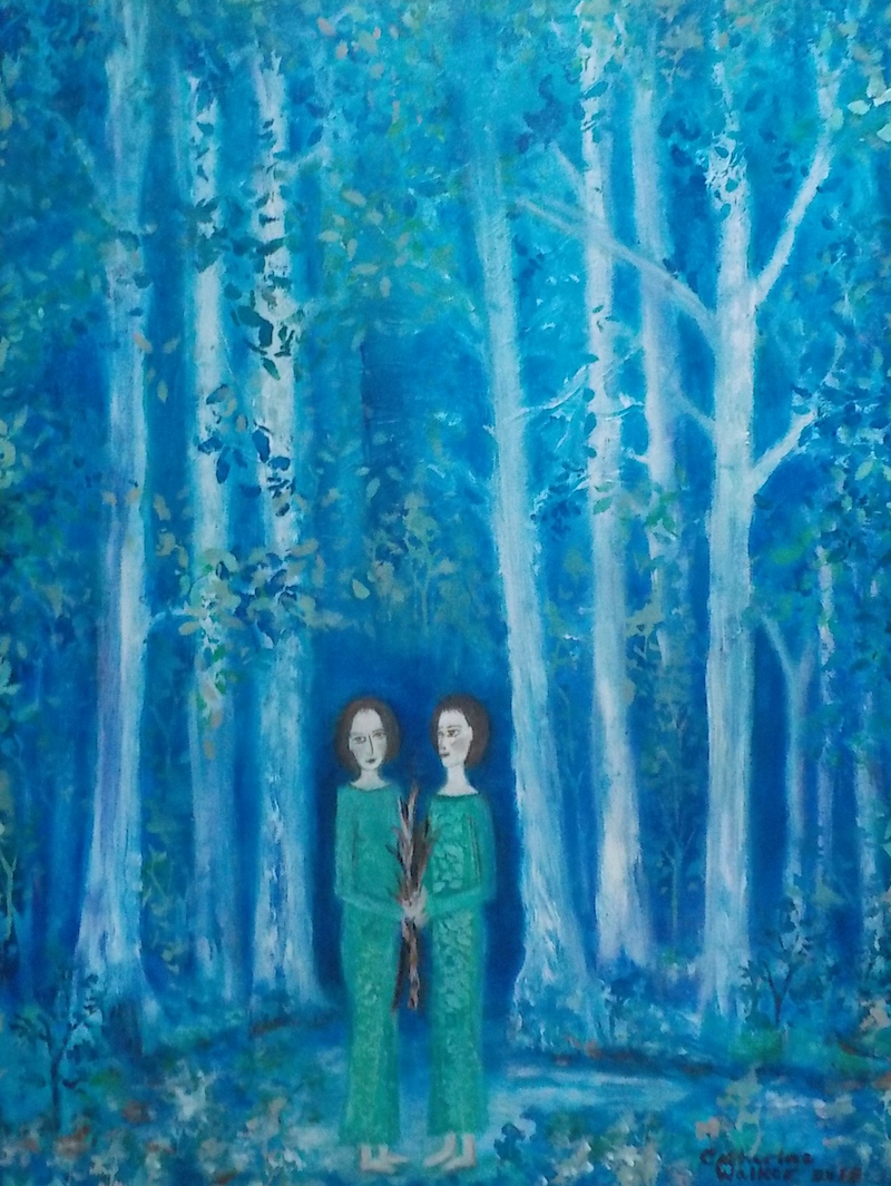 "(CreativeWork) ""Dream of a forest"" by Catherine Walker. Acrylic Paint. Shop online at Bluethumb."