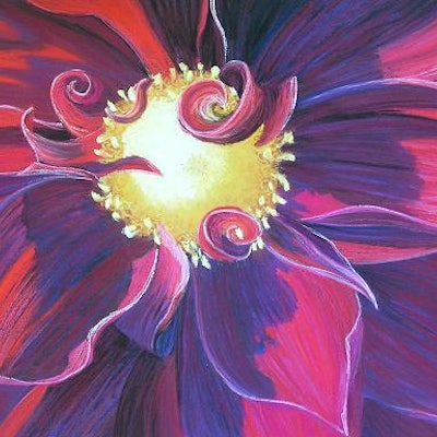 (CreativeWork) Heart of  gold - Flower by Lindy Whitton. drawing. Shop online at Bluethumb.