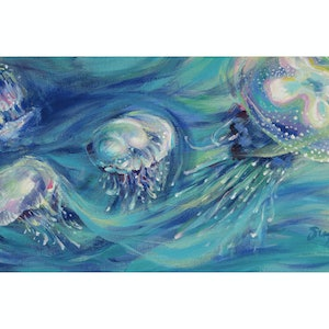 (CreativeWork) The Jellyfish Dance (2018)  - Giclee Print  Ed. 1 of 50 by Huixin Su. print. Shop online at Bluethumb.