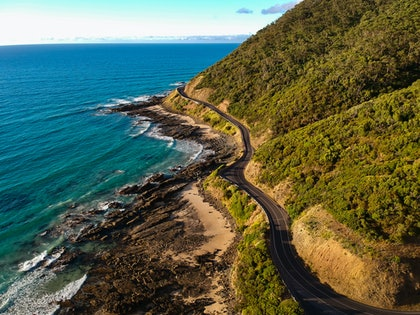 (CreativeWork) The Great Ocean Road by Stephanie Tuckfield. photograph. Shop online at Bluethumb.